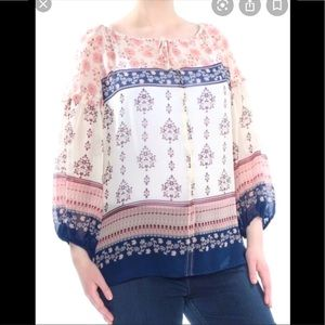 NWT Vince Camuto Wildflower Sheer Top